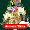 animals and bird designs