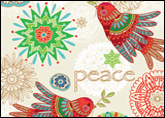 Contemporary Peace Dove Holiday Card