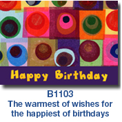Layered Circles Birthday Card