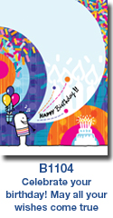 B1104 Celebration Cake Custom Birthday Card