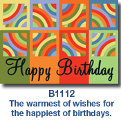 Circles in Squares Birthday Card