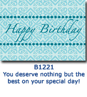 Turquoise Tradition Corporate Birthday Cards