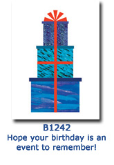 Tower of Gifts Birthday Card