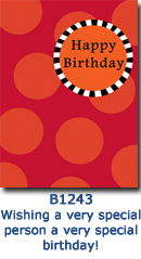 B1243 Snappy Spots Birthday Card