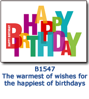 Block Birthday Card