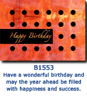 Polka Dot Black Birthday Card