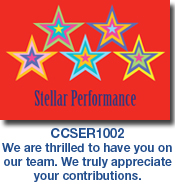 CCSER1002 Red Star Performance