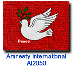 Peace Dove charity Christmas card supporting Amnesty Internationsl