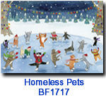 BF1717 Skating Cats Holiday Card