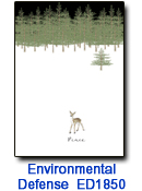 ED1850 Peaceful Deer charity holiday card
