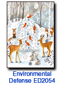 Woodland Wildlife charity holiday card supporting Environmental Defense Fund