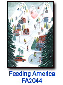 Mountain Holiday charity holiday card supporting Feeding America
