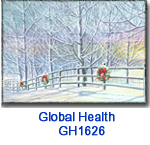 GH1626 Deck The Fence Holiday Card