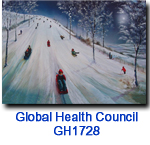 GH1728 An Evening Slide charity holiday card