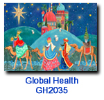 We Three Kings charity Christmas card supporting the Global Health Council