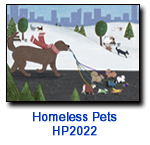 Walk Time charity holiday card supporting Homeless Pets