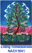 NAEH1641 Tree of Peace holiday card