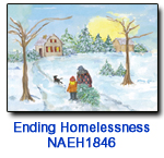 NAEH1846 Bringing Home the Tree Holiday Card