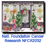 Holiday Shop charity Christmas card supporting National Foundation for Cancer Research