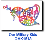 OMK1518 Peace Dove Holiday Card