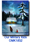OMK1832 Almost Home Charity Holiday card