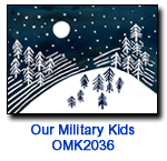Moon Hill charity holiday card supporting Our Military Kids