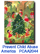 Let's Decorate charity holiday card supporting Prevent Child AbuseAmerica