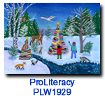 PLW1929 Book Trees charity Holiday Card