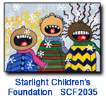 Catching Flakes charity holiday card supporting Starlight Children's Foundation