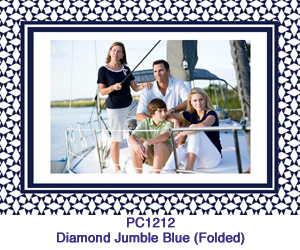 Diamond Jumble Blue Photo Card