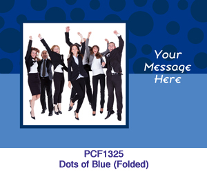 Dots of Blue Photo Card PC1325