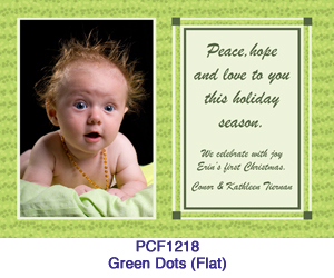 Green Dots Photo Card PCF1218