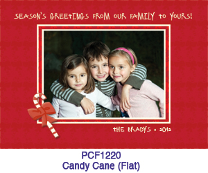 Candy Cane Photo Card PCF1220