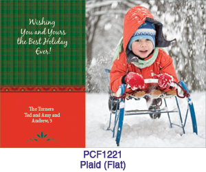 Plaid Phot Card PCF1221